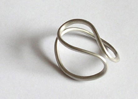 sterling silver 'ring OMEGA No. 1' from the WEARABLE SCULPTURE collection