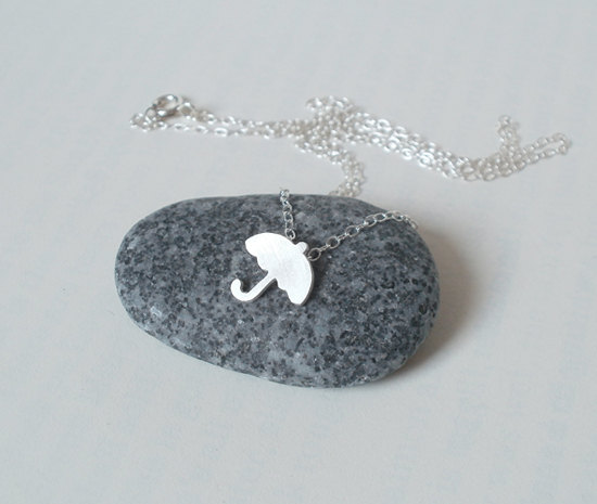 mini umbrella - sterling silver weather forecast necklace